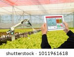 iot smart industry robot 4.0... | Shutterstock . vector #1011961618