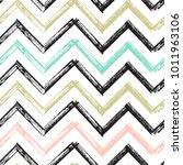 chevron zigzag paint brush... | Shutterstock .eps vector #1011963106