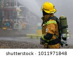 View Of A Fire Fighter With...
