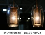 modern hanging glass lamp with... | Shutterstock . vector #1011978925