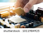hand of computer engineering... | Shutterstock . vector #1011984925