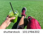 green smoothie detox fitness... | Shutterstock . vector #1011986302