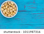generic white bowl filled with... | Shutterstock . vector #1011987316