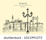 gondola pier in venice  italy.... | Shutterstock .eps vector #1011991372