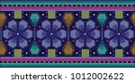 floral pattern   mexican design | Shutterstock .eps vector #1012002622