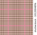 check fashion tweed beige  pink ... | Shutterstock .eps vector #1012004896