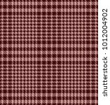 check fashion tweed burgundy... | Shutterstock .eps vector #1012004902