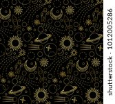 space luxury gold seamless... | Shutterstock .eps vector #1012005286