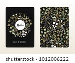cover design with floral... | Shutterstock .eps vector #1012006222