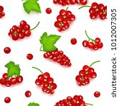 seamless vector pattern of red... | Shutterstock .eps vector #1012007305