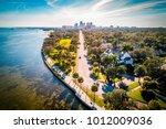 the scenic road where ocean... | Shutterstock . vector #1012009036