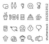valentines day thin line icons... | Shutterstock .eps vector #1012013512
