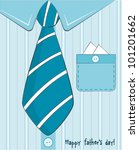 father day greeting card | Shutterstock .eps vector #101201662