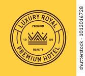 crown   vector logo icon label | Shutterstock .eps vector #1012016728