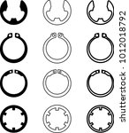 circlip design collection  c... | Shutterstock .eps vector #1012018792
