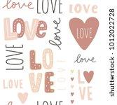 valentine's day card. seamless... | Shutterstock .eps vector #1012022728