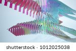 abstract white and colored... | Shutterstock . vector #1012025038