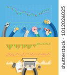 stock analysis business success ... | Shutterstock .eps vector #1012026025