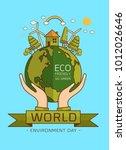 world environment day. vector... | Shutterstock .eps vector #1012026646