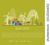 vector illustration of eco home ... | Shutterstock .eps vector #1012026652