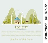vector illustration of eco home ... | Shutterstock .eps vector #1012026655