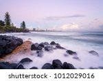 burleigh cove during a pastel... | Shutterstock . vector #1012029016