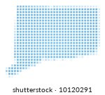 connecticut usa  map square... | Shutterstock . vector #10120291