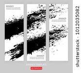grunge banner template hand... | Shutterstock .eps vector #1012035082
