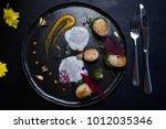 molecular gourmet cuisine... | Shutterstock . vector #1012035346