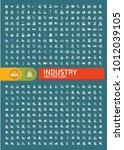 industrial icon set design   Shutterstock .eps vector #1012039105