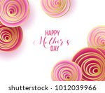 happy mother's day layout... | Shutterstock .eps vector #1012039966