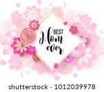 happy mother's day layout... | Shutterstock .eps vector #1012039978