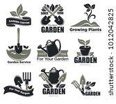 gardening service and garden... | Shutterstock .eps vector #1012042825