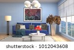 interior living room. 3d... | Shutterstock . vector #1012043608