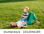 happy woman and child having...   Shutterstock . vector #1012046185