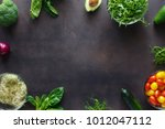 frame from set of ingredients... | Shutterstock . vector #1012047112