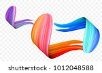 acrylic paint brush stroke.... | Shutterstock .eps vector #1012048588