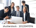 startup business team on... | Shutterstock . vector #1012049596