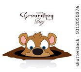 groundhog day  derives from the ... | Shutterstock .eps vector #1012050376