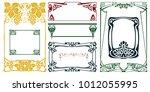vector plant vignette and... | Shutterstock .eps vector #1012055995