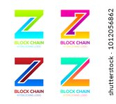 letter z logos colorful shape... | Shutterstock .eps vector #1012056862
