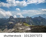 landscape of the alpstein and... | Shutterstock . vector #1012057372