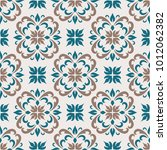 abstract floral ornament ... | Shutterstock .eps vector #1012062382