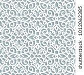 cutout paper pattern  lace... | Shutterstock .eps vector #1012062385