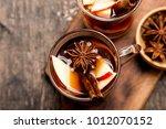 hot spicy beverage. hot drink ... | Shutterstock . vector #1012070152