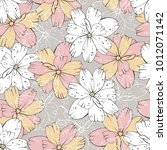 floral seamless pattern. | Shutterstock .eps vector #1012071142