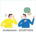 halitosis  bad breath. people... | Shutterstock .eps vector #1012074202