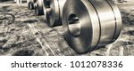 cold rolled steel coils in... | Shutterstock . vector #1012078336