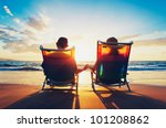 senior couple of old man and... | Shutterstock . vector #101208862
