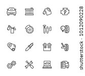 line icon set related to car...
